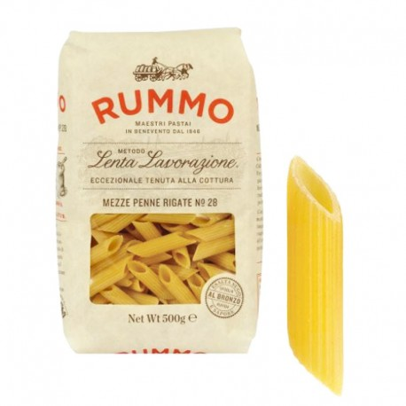 RUMMO Mezze Penne Rigate n ° 28 - Packung mit 500gr