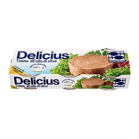 Delicius Thon - 3 Packs de 80gr