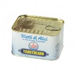 Filetti di Alici Marechiaro in Olio di Semi di Girasole - Conf. da 720gr