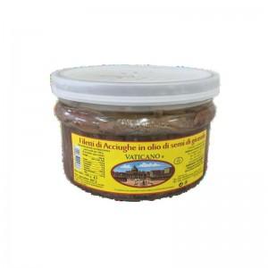 Filetti di Acciughe Vaticano in Olio di Semi di Girasole - Conf da 1,5 kg