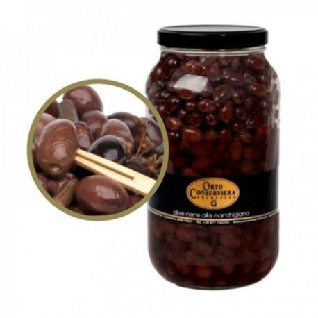 Olives noires assaisonnées...