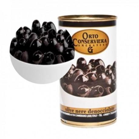 Olive Nere Denocciolate - Latta da 350gr