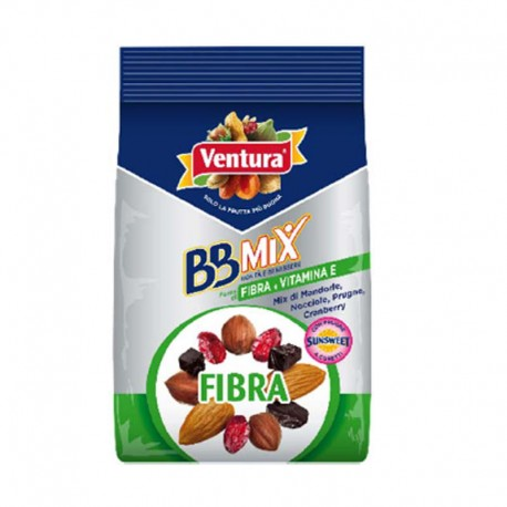 Pocket Fibra - Mix di Prugne Mandorle  Nocciole Cranberry - Conf da 150gr