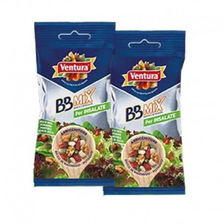 Mix per Insalate - Mix di Noci Mandorle Pomodori essiccati e Semi di Zucca Conf da 42gr