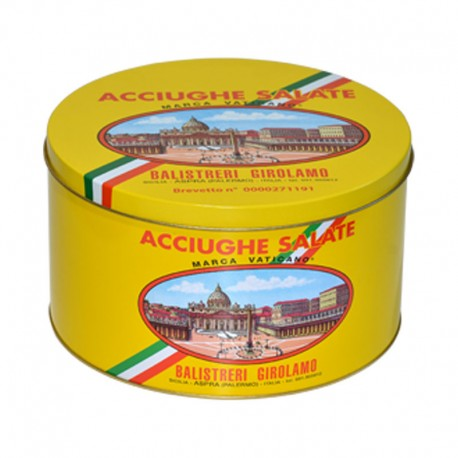 Gesalzene Sardellenfilets Vatikan Marke Mittelmeer - 5 kg Packung