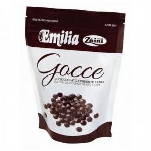 Gocce di Cioccolato Fondente Emilia - Busta Richiudibile da 75gr