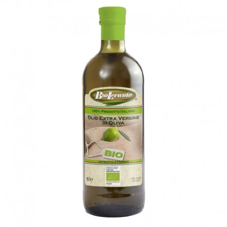 Biolevante Olio Extra Vergine di Oliva Puglia 100% Italiano Biologico - Bottiglia da 1 lt