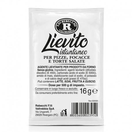 Lievito Istantaneo Rebecchi per Pizze Focacce e Torte Salate - 16gr