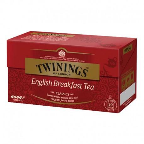 Twinings Classics English Breakfast - 20 filtres scellés individuellement