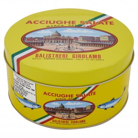 Gesalzene Sardellenfilets Vatikan Marke Mittelmeer - 1 kg Packung