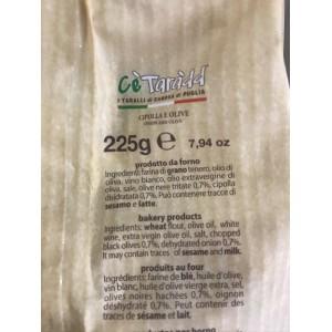 Taralli Cè Taràdd Cipolle e Olive Apulia 225gr