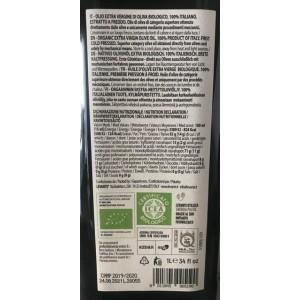 Biolevante Huile d'Olive Extra Vierge des Pouilles 100% Italienne Biologique - Bouteille de 1 lt