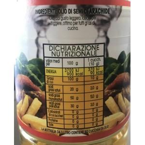 Huile d'arachide San Marco - Bouteille de 1 litre