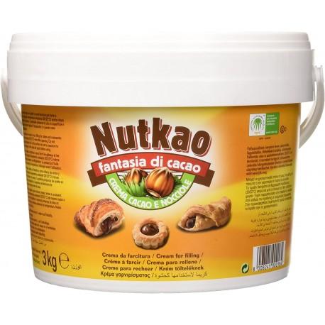 Nutkao Crema da Spalmare Cacao e Nocciole Senza Glutine - Secchiello da 3 kg