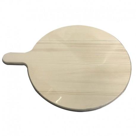 Planche à découper ronde en bois pour pizza pâtes snacks divers aliments 35 cm