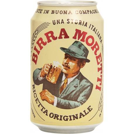 Bière Moretti - canette de 330 ml