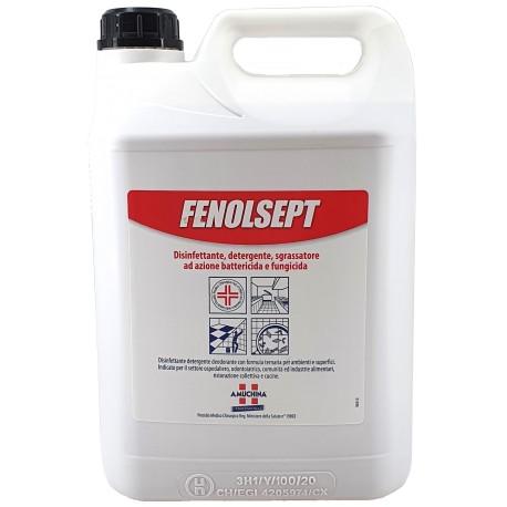 Détergent désinfectant pour sols et surfaces Amuchina Fenolsept - Réservoir de 5 litres