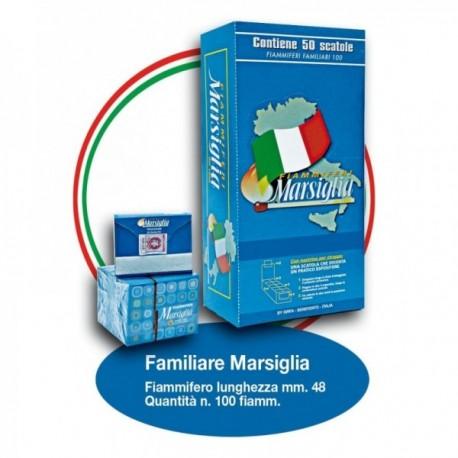 Fiammiferi Familiari Marsiglia Blu -...