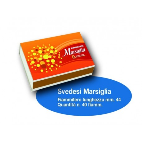Fiammiferi Svedesi Marsiglia - 1 Box...