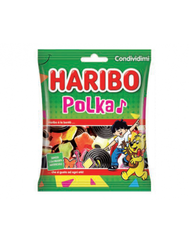 Haribo Polka Gommose e Liquirizia -...