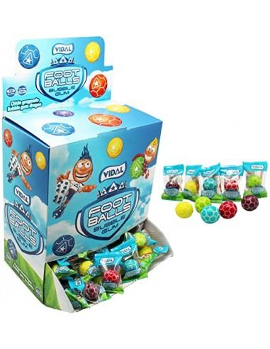 Vidal Foot Balls Bubble Gum - Boîte...